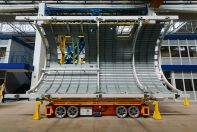 Панель фюзеляжа самолета МС-21 бери станции новой сборочной абрис