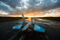 Новый Су-30СМ в ВПП ИАЗ