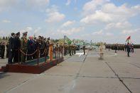 Церемония принятия возьми обстановкае ВВС Республики Беларусь самолетов Як-130