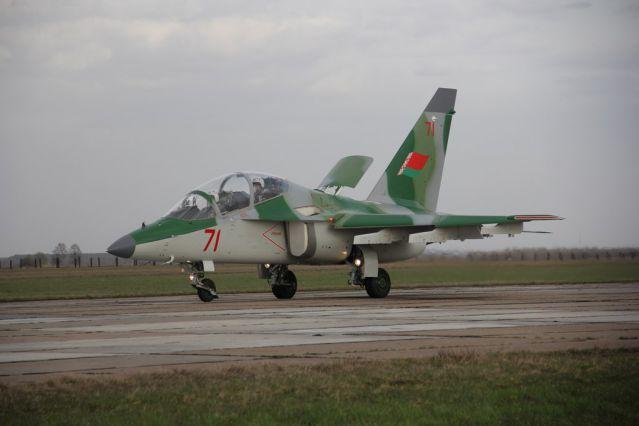 Як-130 ВВС РБ на посадке
