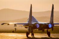 Су-30СМ вечорошний полет
