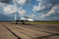 Су-30СМ разбег