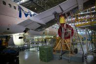 Частотные испытания самолета МС-21-300-0001